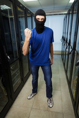 private server: Masked cyber hacker