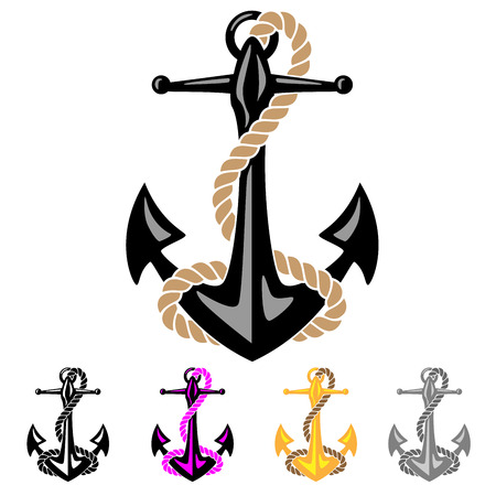ship anchor: Anchor with Rope