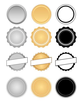 Labels Seals Badges and Wax Emblem Set