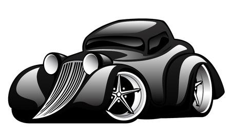 Black Classic Straat Rod Illustratie