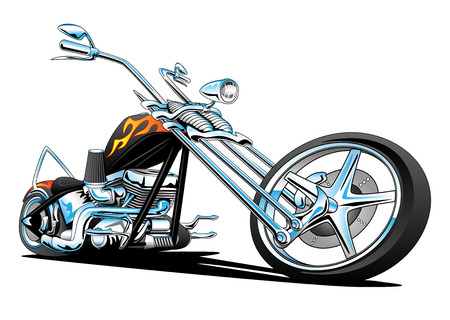 Custom American Chopper Motorcycle Stockfoto - 41070636