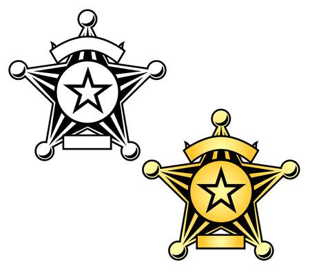 Sheriff Badge Illustration Illusztráció