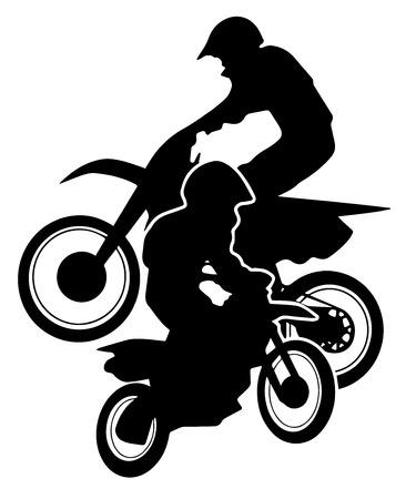 enduro: Motocross Dirt Bikes Silhouette