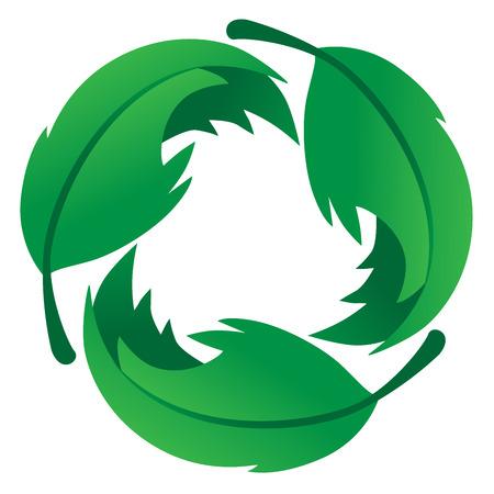 친환경 잎 로고