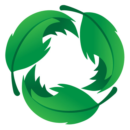 logo recyclage: Eco Feuille bienvenus Logo