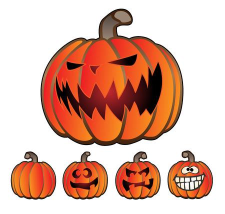 jack o: Halloween Holiday Pumpkin Jack O Lantern Set