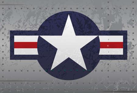 estrellas  de militares: Militar insignias nacionales Aeronaves ejemplo apenado
