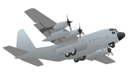 hercules: Military Transport Cargo Aircraft Illustration
