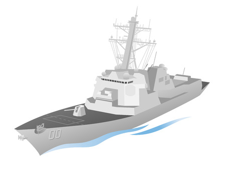 destroyer: Naval Ship Vector