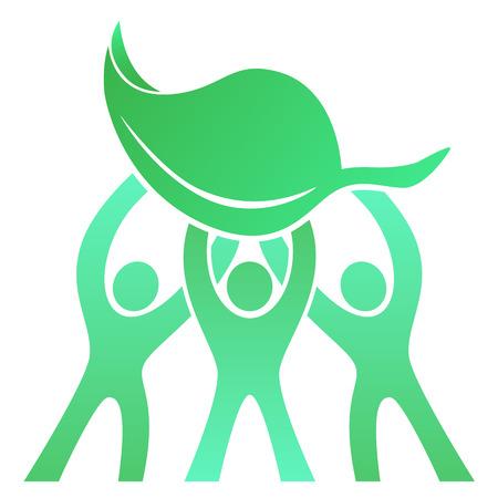 eco friendly icon: Teamwork Eco Friendly icon