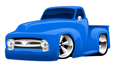 Hot Rod Pickup Truck Illustratie Stock Illustratie