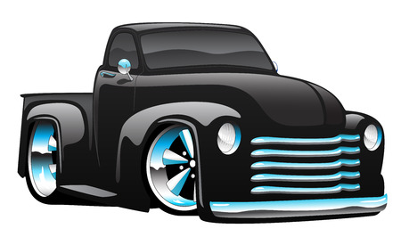 Hot Rod Pickup LKW Illustration