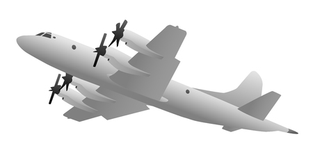 Naval Military Patrol Aircraft Illustration Illustration