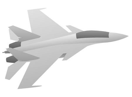 Military Fighter Jet Aircraft Иллюстрация