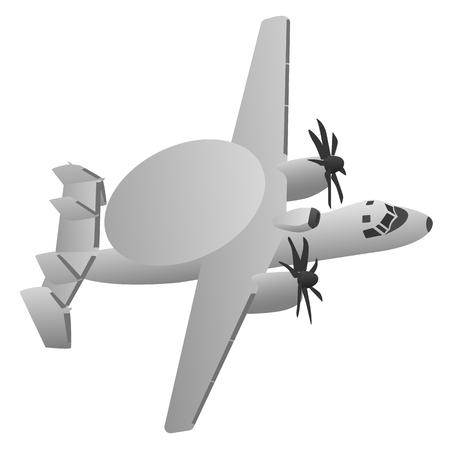 米軍の早期警戒レーダー航空機  イラスト・ベクター素材