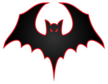 Bat met vleugels verspreide logo illustratie