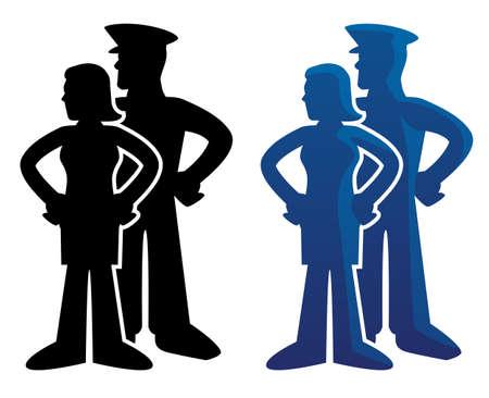 Military Spouse Sweetheart Logo Illustration