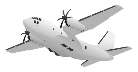 Military Transport Cargo Aircraft Illustration