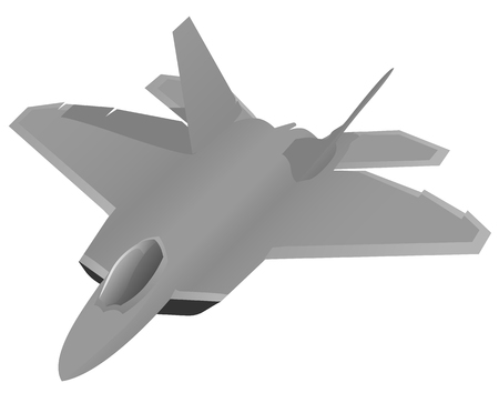 Modern military fighter jet aircraft.