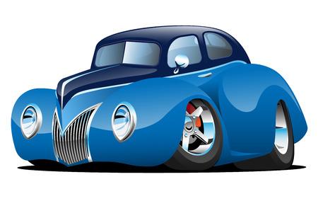 Klassischer kundenspezifischer Auto-Cartoon Standard-Bild - 87528609