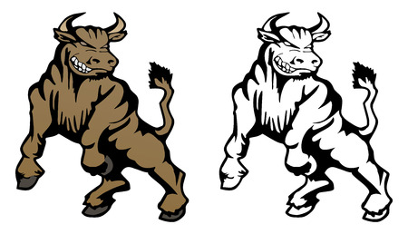 Bull Cartoon Mascot Illustration