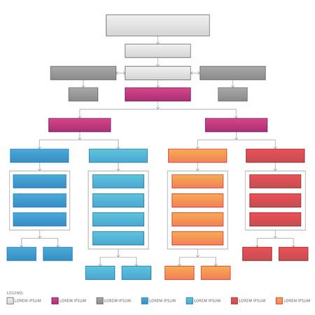 Verticale organisatorische bedrijfsstroomdiagram vectorafbeelding Vector Illustratie