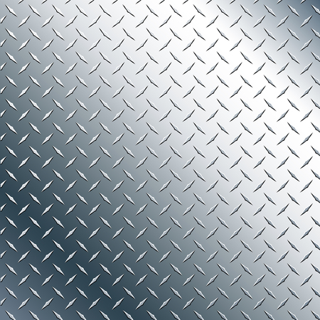 Chrome Diamond Plate Realistic Vector Graphic Illustration
