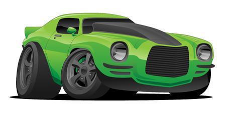 Muscle Car Cartoon Illustration Vettoriali