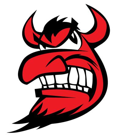 Devil Face Vector Illustration Illustration