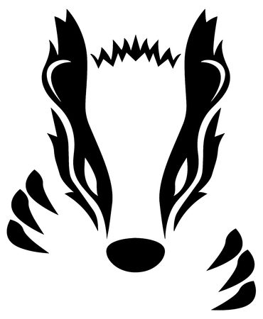 Badger Vector Illustration Vettoriali