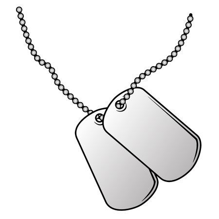 Military dog tags vector illustration. Reklamní fotografie - 99732779