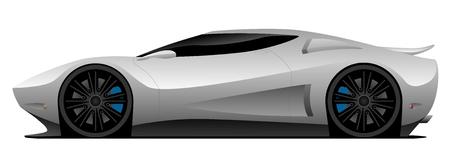 Super Car Vector Illustration Illustration