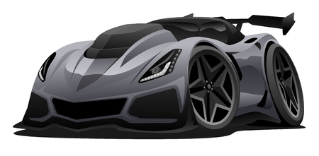 Modern American Sports Car Vector Illustration