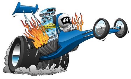Top Fuel Dragster Vector Cartoon Illustration Illustration