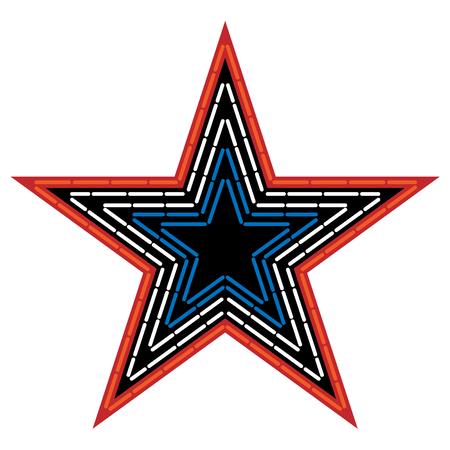 Mill Mountain Star Vector Illustration Çizim