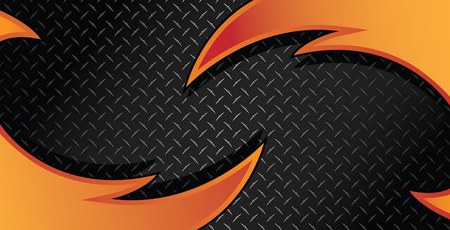 Orange Razor Diamond Plate Textured Vector Background Illustration