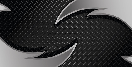 Silver Razor Diamond Plate Textured Vector Background Illustration