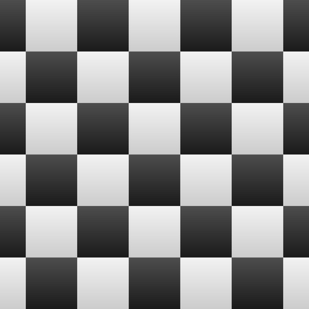 Black and White Gradients Checkered Seamless Repeating Pattern Background Vector Illustration Çizim
