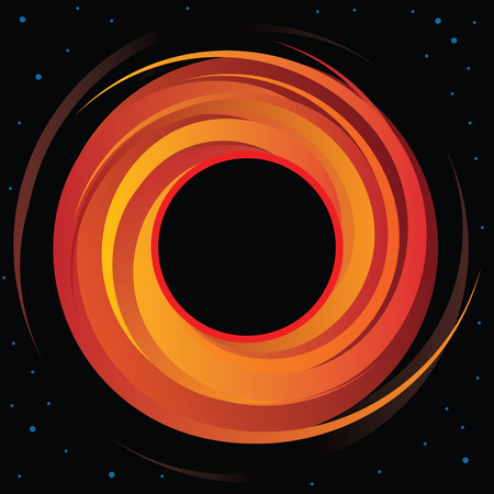 Supermassive Black Hole Vector Graphic