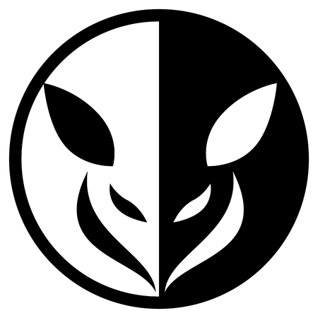 Small Animal Circular Logo Isolated Vector Illustration Çizim