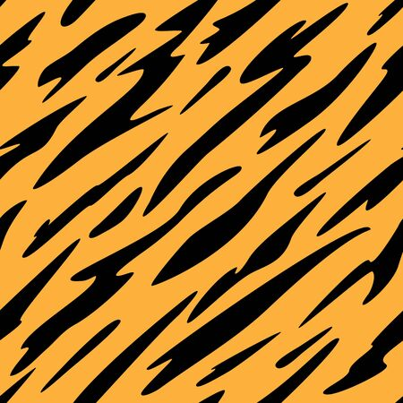 Abstract Black and Orange Stripes Seamless Repeating Pattern Vector Illustration Çizim