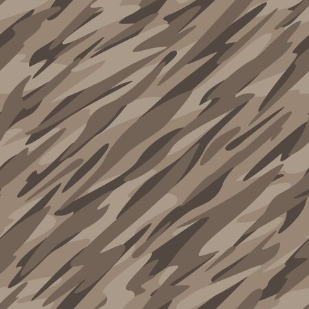 Desert Camouflage Abstract Seamless Repeating Pattern Vector Illustration Çizim