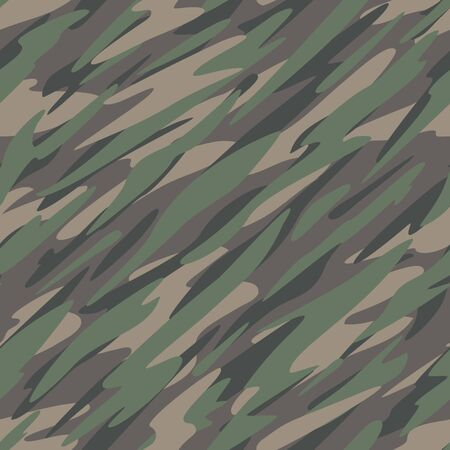 Forest  Jungle Camouflage Abstract Seamless Repeating Pattern Vector Illustration Çizim
