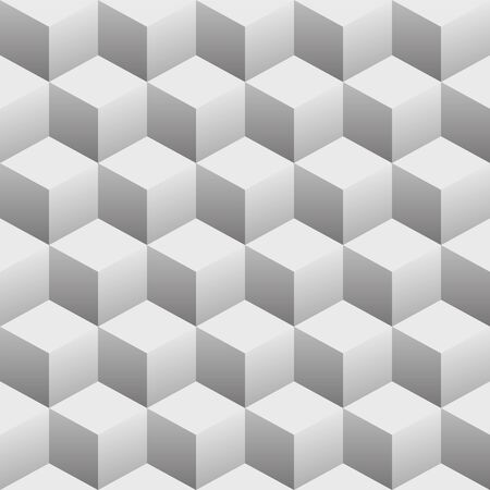 3D Cubes Seamless Repeating Pattern Vector Illustration