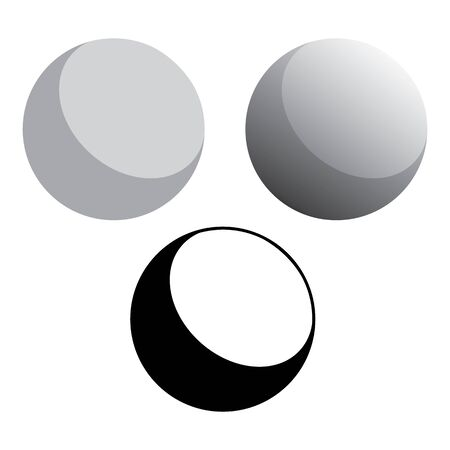 3d Solid Ball Spheres Vector Illustration  イラスト・ベクター素材