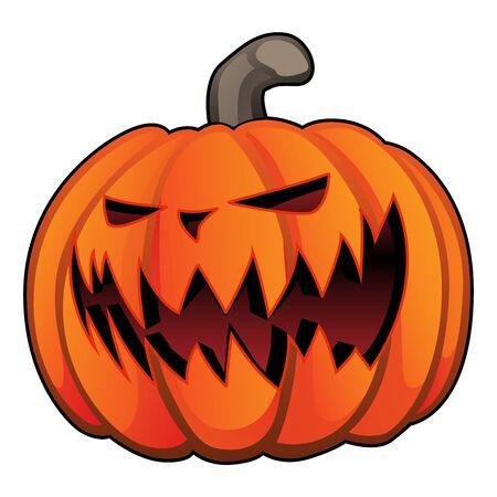 Jack O 'Lantern Halloween dynia na białym tle ilustracja wektorowa