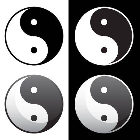 Yin Yang Symbol Isolated Vector Illustration Ilustracja