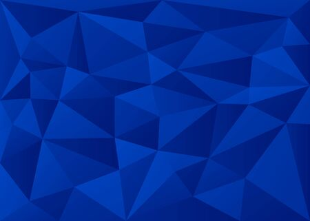 Deep Blue 3D Polygon Geometric Triangles Background Vector Illustration