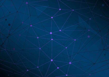 High-tech Polygonal Network Connectivity Geometric Abstract Vector Illustration Illustration
