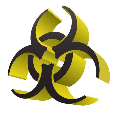 Biohazard Health Medical Warning 3D Symbol Isolated Vector Illustration